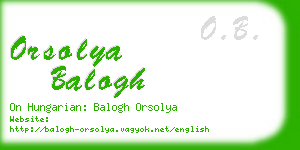 orsolya balogh business card